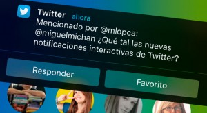 Twitter agrega notificaciones interactivas en iOS 8